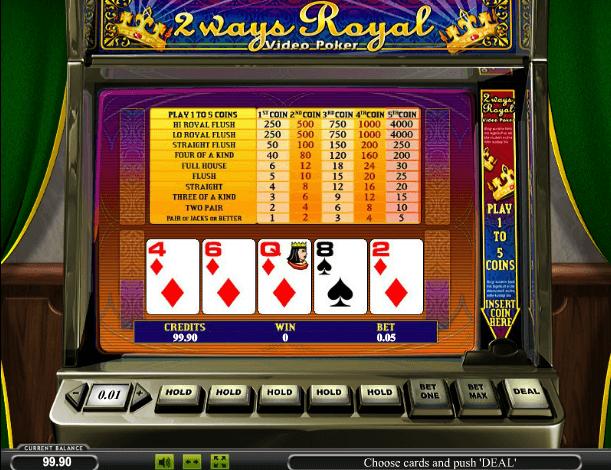 Играть в автомат 2 Way Royal Poker / Покер 2 руки