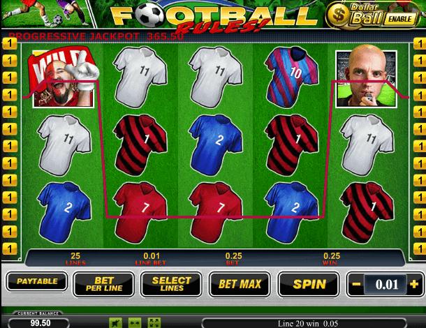 Играть в автомат Footbal Rules / Правила Футбола