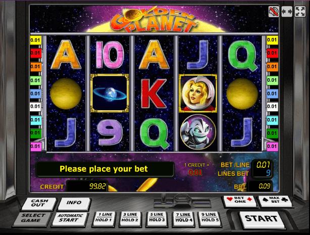 Играть в автомат Golden Planet / Золотая Планета