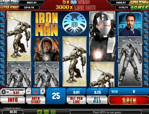 Играть в автомат Iron Man 2 / Железный Человек 2