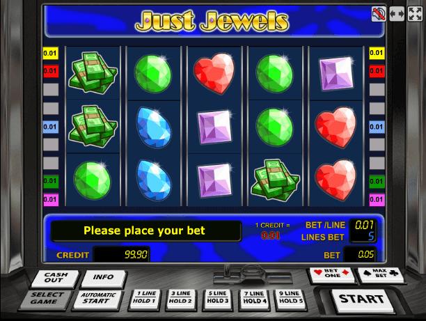 Играть в автомат Just Jewels / Драгоценности