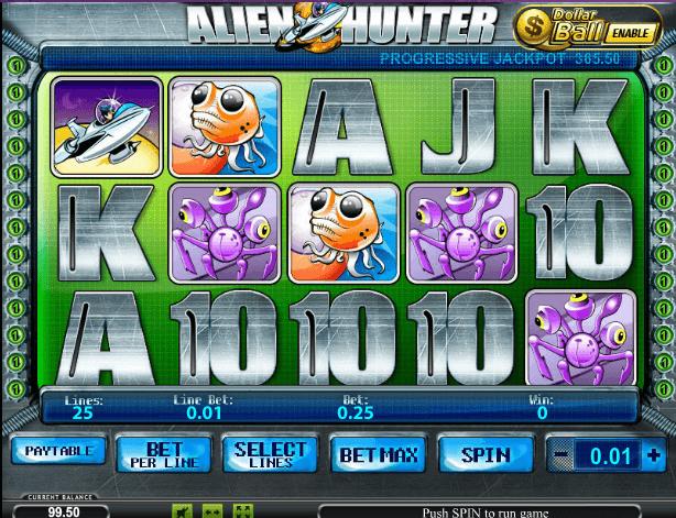 Играть в автомат Alien Hunter / Охотник на пришельцев