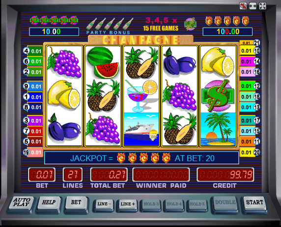 Игровой автомат Champagne от Mega Jack (Мега Джек) Бонус игра