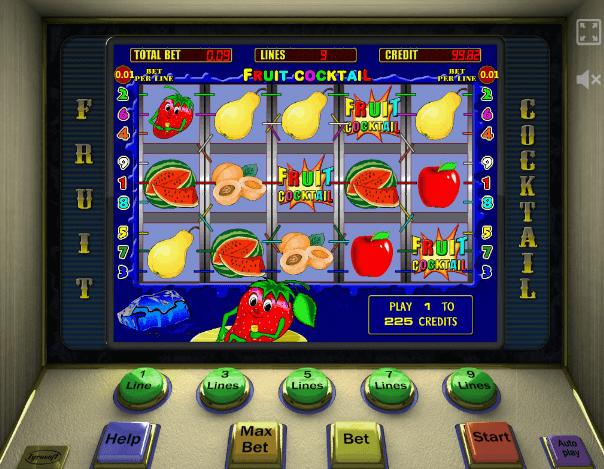 Играть в автомат Fruit Cocktail / Клубнички