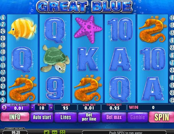 Играть в автомат Great Blue / Голубая Лагуна