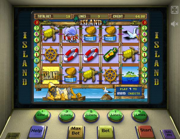 игровой автомат остров играть бесплатно без регистрации