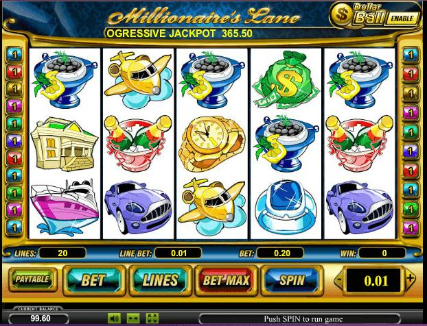 Играть в автомат Millionaires Lane / Линия Миллионера