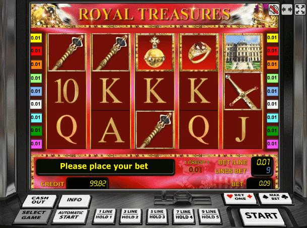 Играть в автомат Royal Treasures / Королевские Сокровища