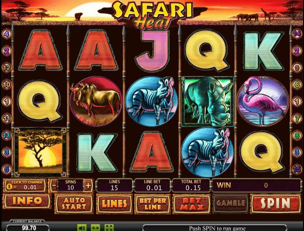 Играть в автомат Safari Heat / Жара Пустыни
